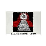 Dajjal System .com Rectangle Magnet