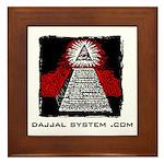 Dajjal System .com Framed Tile