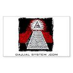 Dajjal System .com Rectangle Sticker