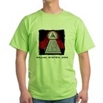 Dajjal System .com Green T-Shirt