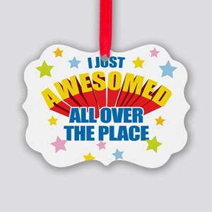 I-Just-Awesomed Picture Ornament