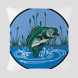 Bass Woven Throw Pillow