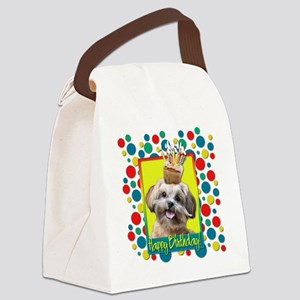 BirthdayCupcakeShihPooCP Canvas Lunch Bag