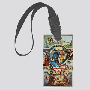 Loyalty Patriotism Service 1916 Large Luggage Tag