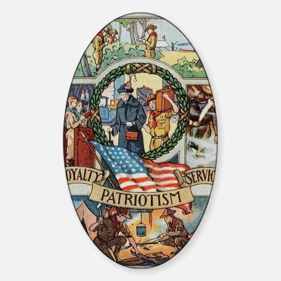 Loyalty Patriotism Service 1916 Sticker (Oval)