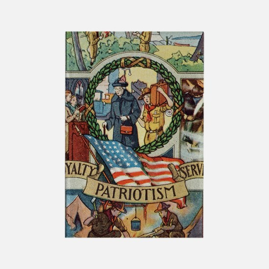 Loyalty Patriotism Service 1916 Rectangle Magnet