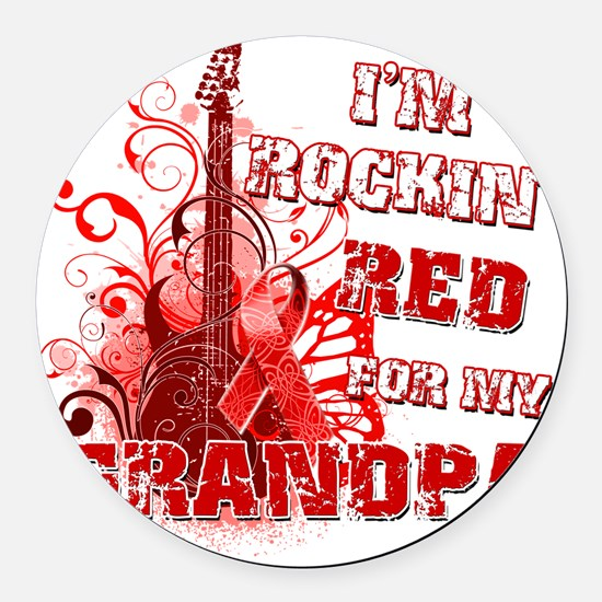 Im Rockin Red for my Grandpa Round Car Magnet