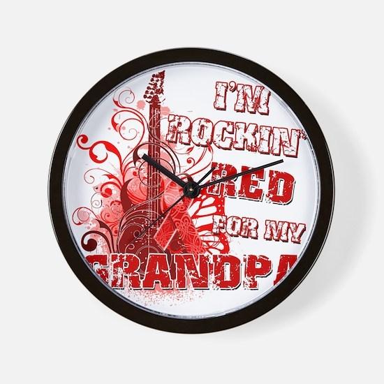 Im Rockin Red for my Grandpa Wall Clock