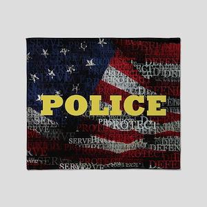 PoliceFlag Throw Blanket