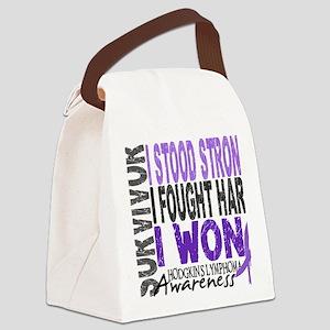 D Survivor 4 Lymphoma Hod Canvas Lunch Bag
