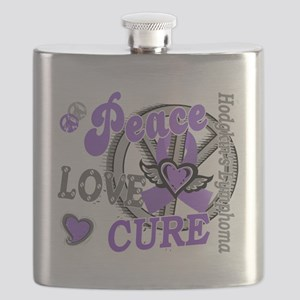D Peace Love Cure 2 Hodgkins Lymphoma D Flask