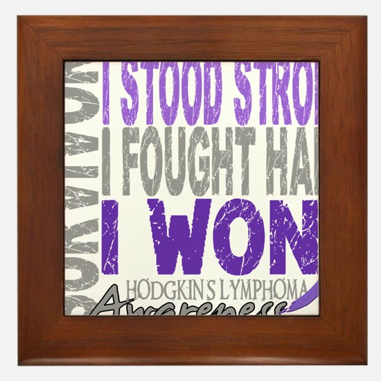D Survivor 4 Lymphoma Hodgkins D Framed Tile