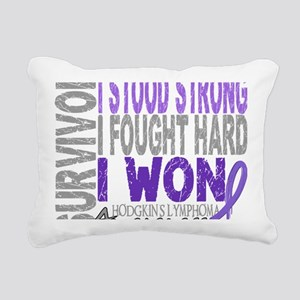 D Survivor 4 Lymphoma Ho Rectangular Canvas Pillow
