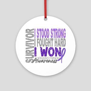 D Survivor 4 Lymphoma Hodgkins D Round Ornament