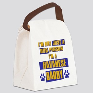 havanese Canvas Lunch Bag