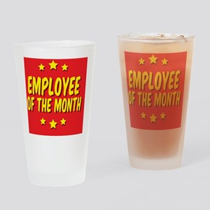 employee-of-the-month-button-001 Drinking Glass