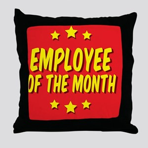 employee-of-the-month-button-001 Throw Pillow