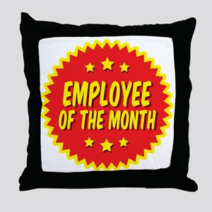employee-of-the-month-001 Throw Pillow