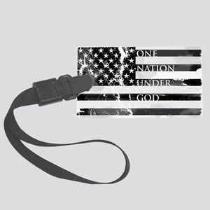 one nation gray Large Luggage Tag
