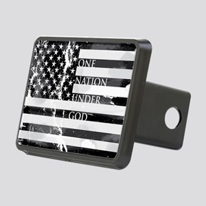 one nation gray Rectangular Hitch Cover