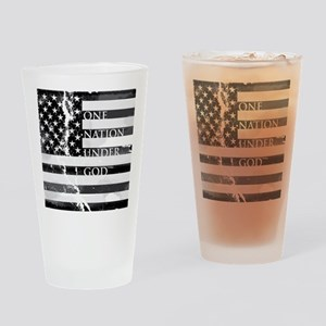 one nation gray Drinking Glass
