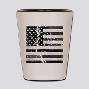 one nation gray Shot Glass
