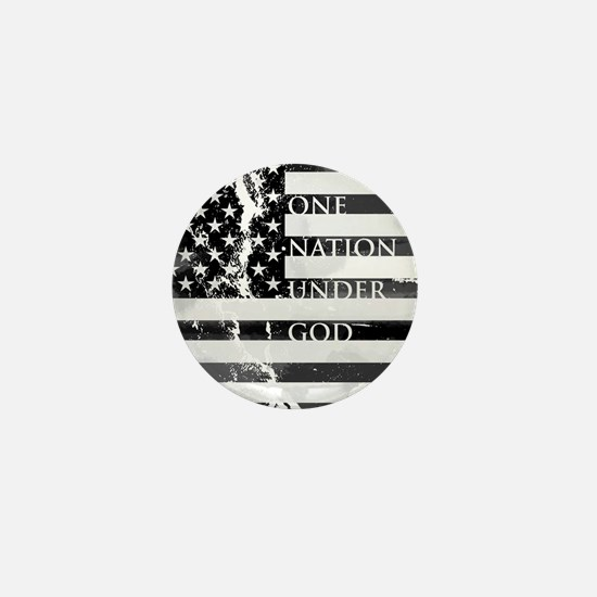 one nation gray Mini Button