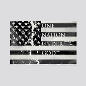 one nation gray Rectangle Magnet