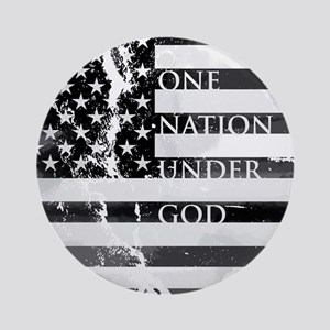 one nation gray Round Ornament