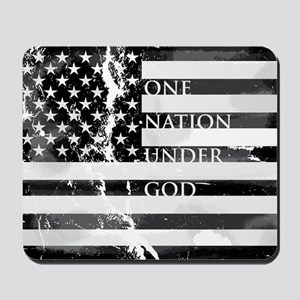one nation gray Mousepad