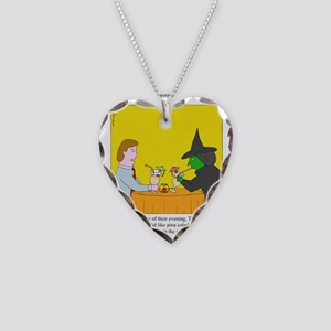 Pina Coladas Necklace Heart Charm