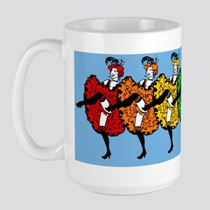 rainbow-cancan_13.5x18 Large Mug