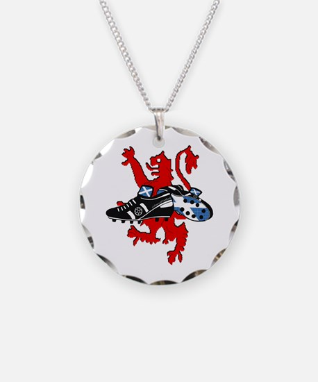 Saltire Football Boots Lion  Necklace