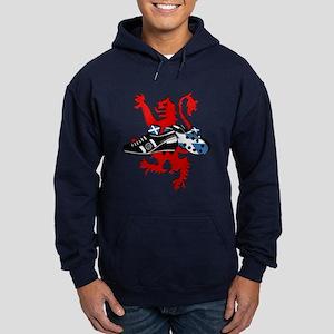 Saltire Football Boots Lion Rampnt C Hoodie (dark)