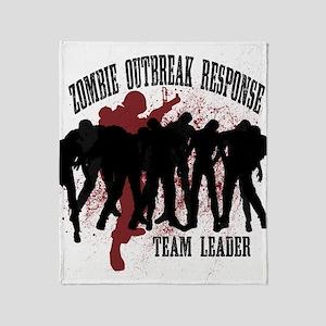 Zombie Outbreak Response Throw Blanket