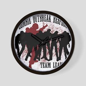 Zombie Outbreak Response Wall Clock
