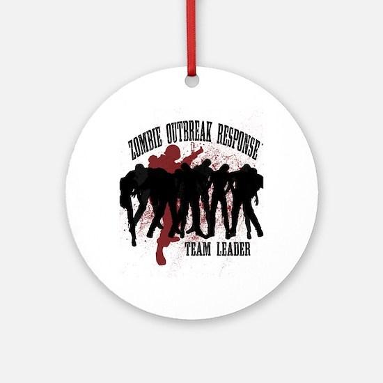 Zombie Outbreak Response Round Ornament