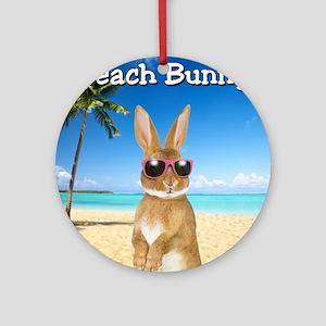 cp_Beach_Bunny01 Round Ornament