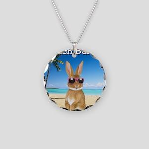 cp_Beach_Bunny01 Necklace Circle Charm
