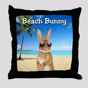 cp_Beach_Bunny01 Throw Pillow