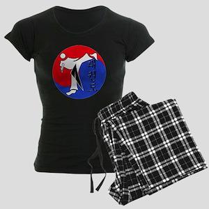 Vertical Hangeul TKD (plasti Women's Dark Pajamas
