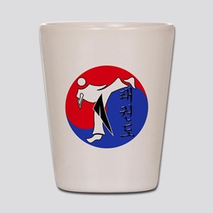 Vertical Hangeul TKD (plastic) inside U Shot Glass