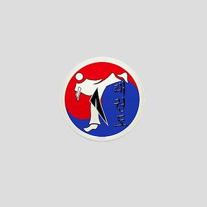 Vertical Hangeul TKD (plastic) inside  Mini Button