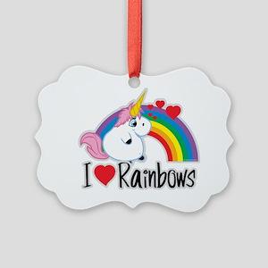I-Love-Rainbows Picture Ornament