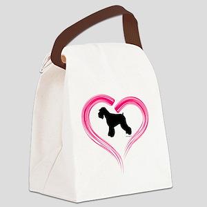 NE Schnauzer Heart Canvas Lunch Bag