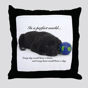Perfect World (Lab) Throw Pillow