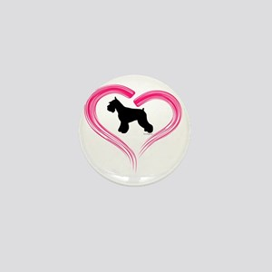 CE Schnauzer Heart Mini Button