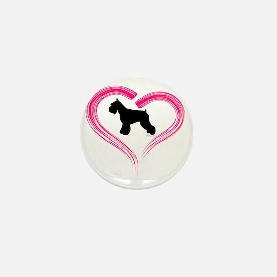 CE Schnauzer Heart Mini Button