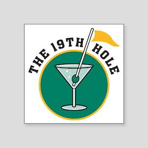 """19th hole Square Sticker 3"""" x 3"""""""