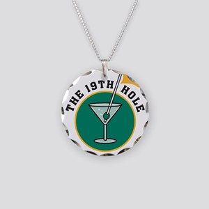 19th hole Necklace Circle Charm